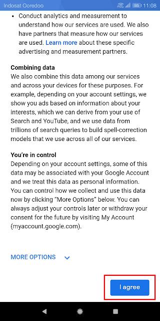 gmail memiliki banyak kebijakan privasi yang harus dipatuhi