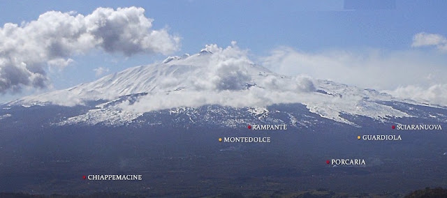 Contrada map on Mt. Etna.