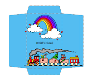 Image: free Money envelope (toy train design)