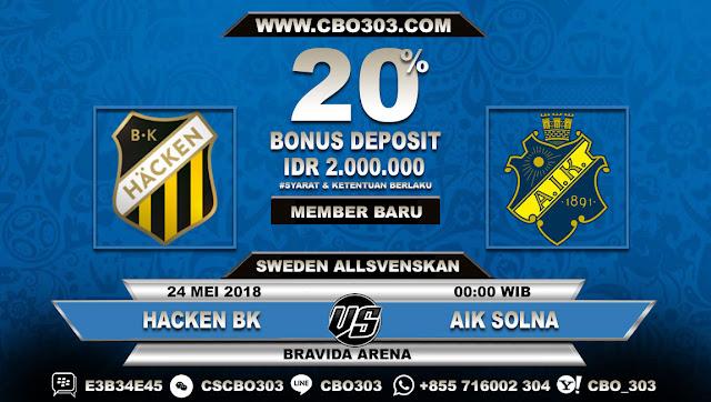 Prediksi Bola Hacken BK VS AIK Solna 24 Mei 2018