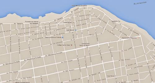 Mapa do centro de Santarém - Pará