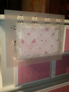 Pink stenciled dresser  The Magic Brush Inc  Jennifer Allwood  Decorative painter  DIY