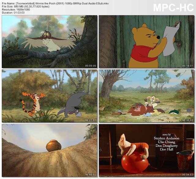Winnie the Pooh (2011) BRRip Dual Audio [Hindi + English] 480p, 720p & 1080p HD ESub 3