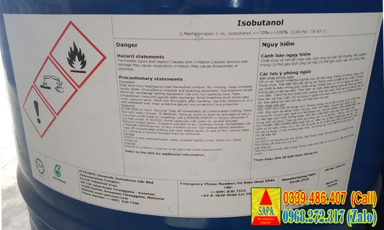 Dung môi Iso Butanol (IBA) C4H10O