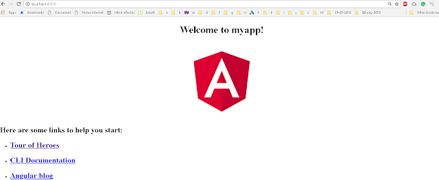 Angular cli example