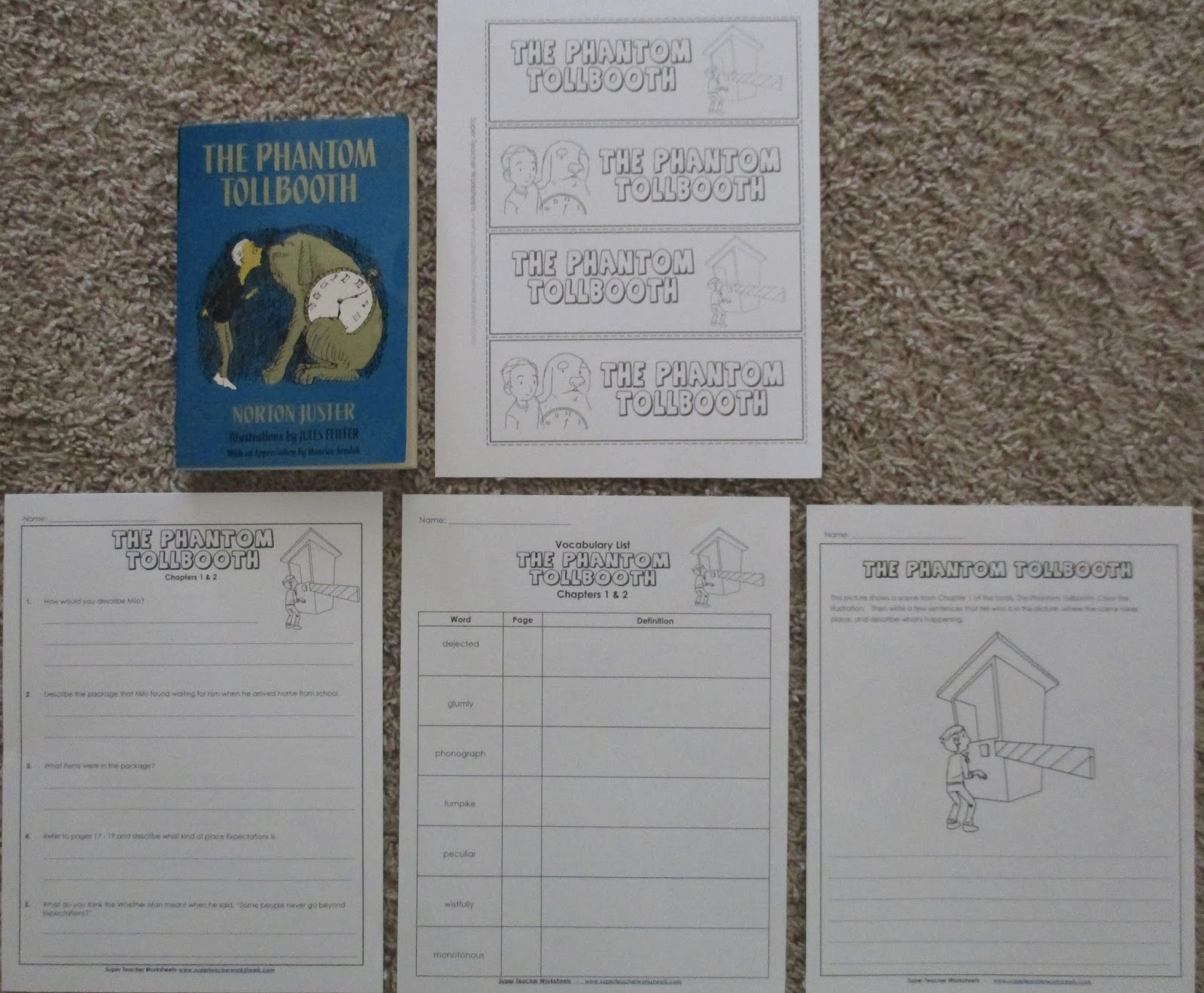 worksheet Phantom Tollbooth Worksheets a learning journey homeschool review crew super teacher worksheets occasionally i would print an illustrate scene summarize the chapters or question leader worksheet to work on specific compre