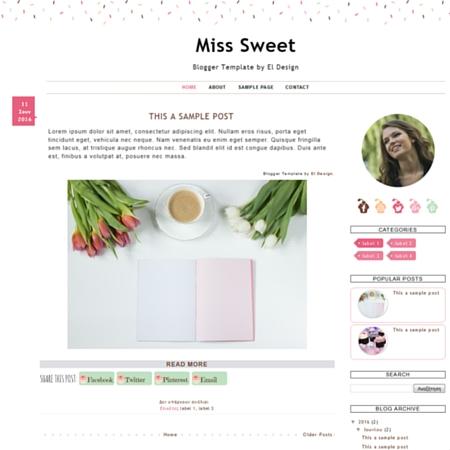 Miss Sweet Blogger Template