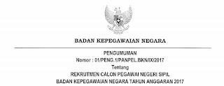 Penerimaan CPNS Terbaru Badan Kepegawaian Negara