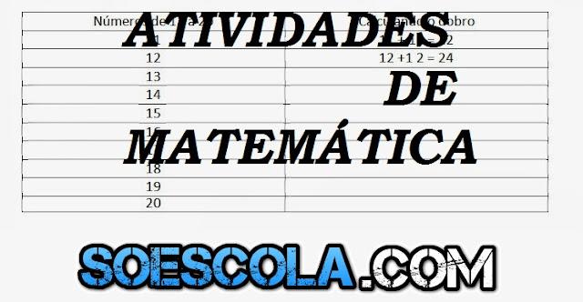 Atividades de Matemática 3 ano - Imprimir