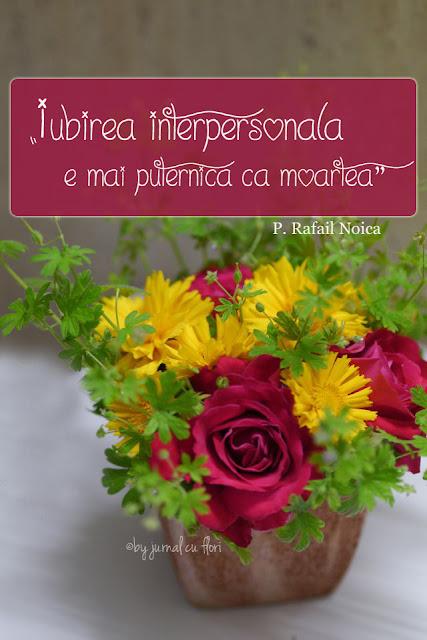 citat Rafail Noica Dragostea iubirea interpersonala este mai puternica decat moartea
