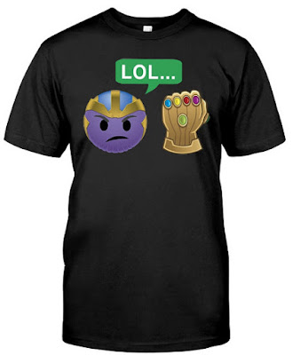 Thanos LOL Infinity Gauntlet Emoji Graphic T Shirt