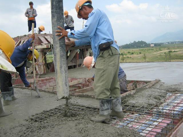 Quy trình đổ bê tông tươi