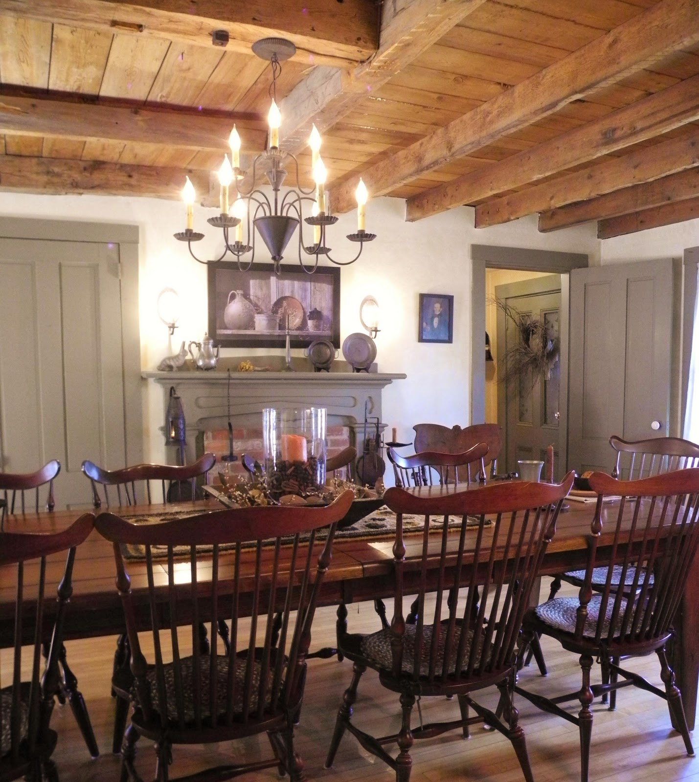 Colonial Dining Room Furniture: A Primitive Place & Country Journal Magazine: Spring 2012