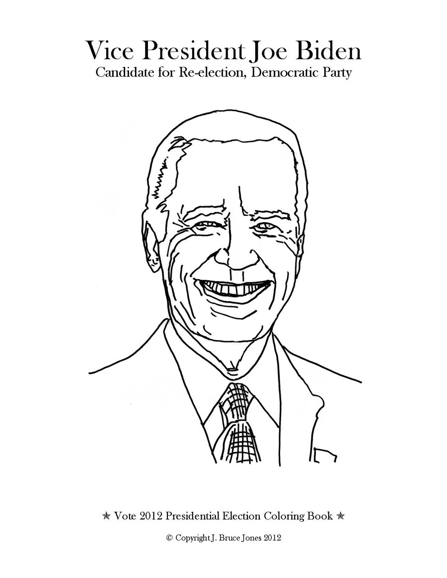 joe biden coloring pages vote 2012 presidential election coloring book vice