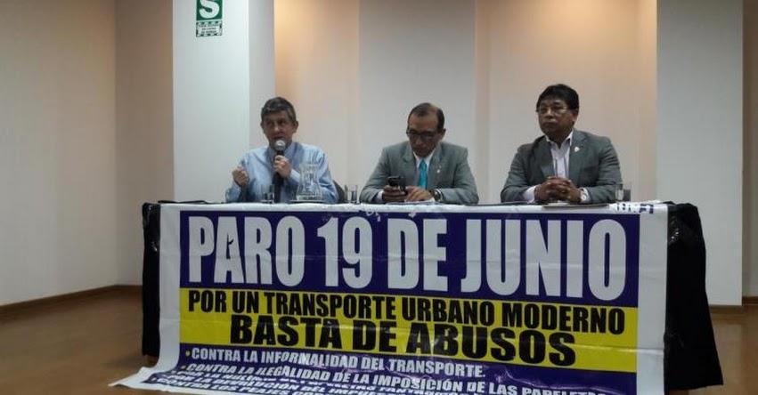 ATENCIÓN: Transportistas acatarán huelga el 19 de junio en Lima y Callao