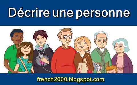 وصف شخص بالفرنسية - وصف الجسم