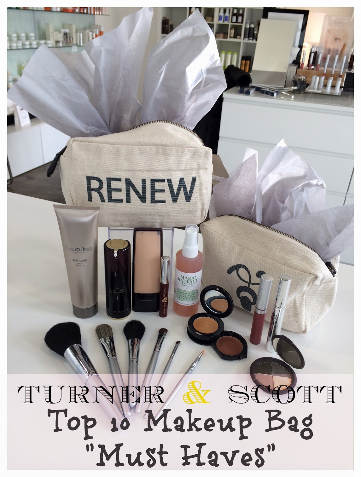 Makeup Must Haves For Beginners: Sweetpea-Lifestyle: Turner & Scott's Top 10 Makeup Bag