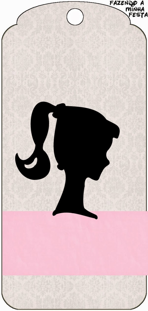 Bright image in free printable barbie silhouette