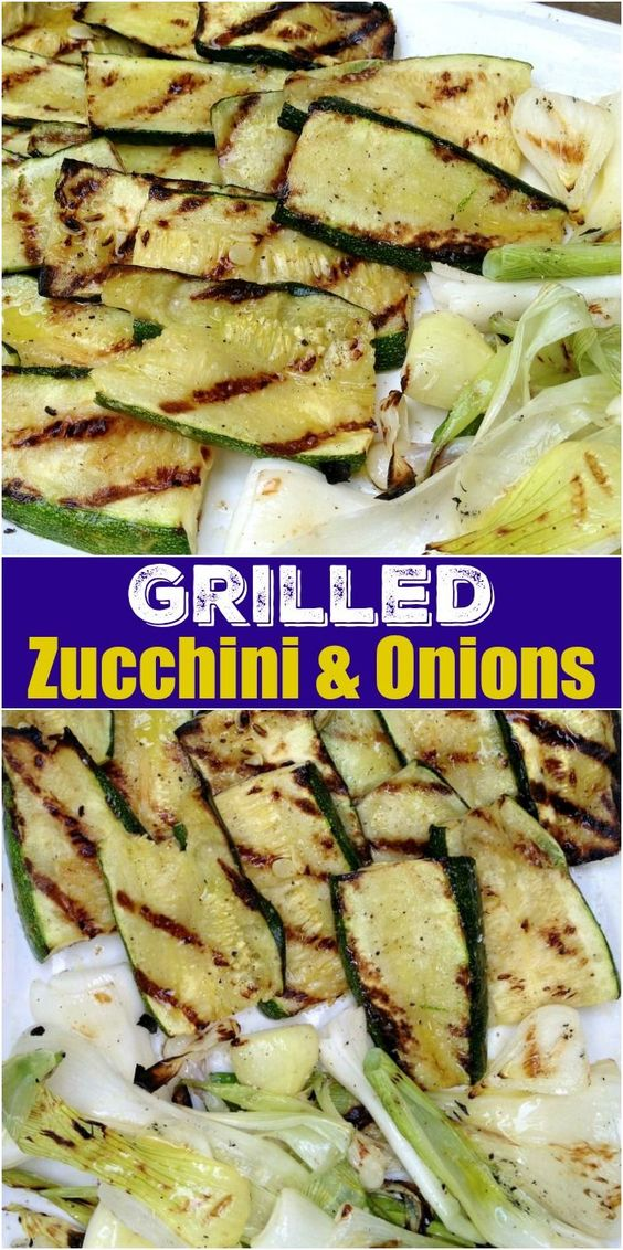Grilled Zucchini & Onions
