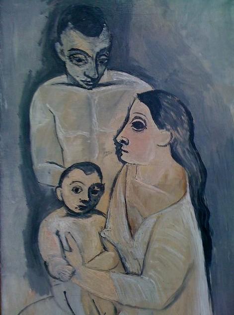 Пабло Пикассо. Мужчина, женщина и ребенок. 1906
