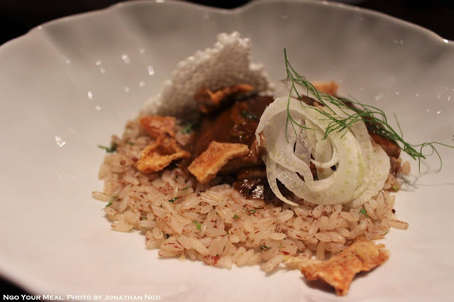 Pork Belly Vindaloo, Goan Red Rice at Indian Accent
