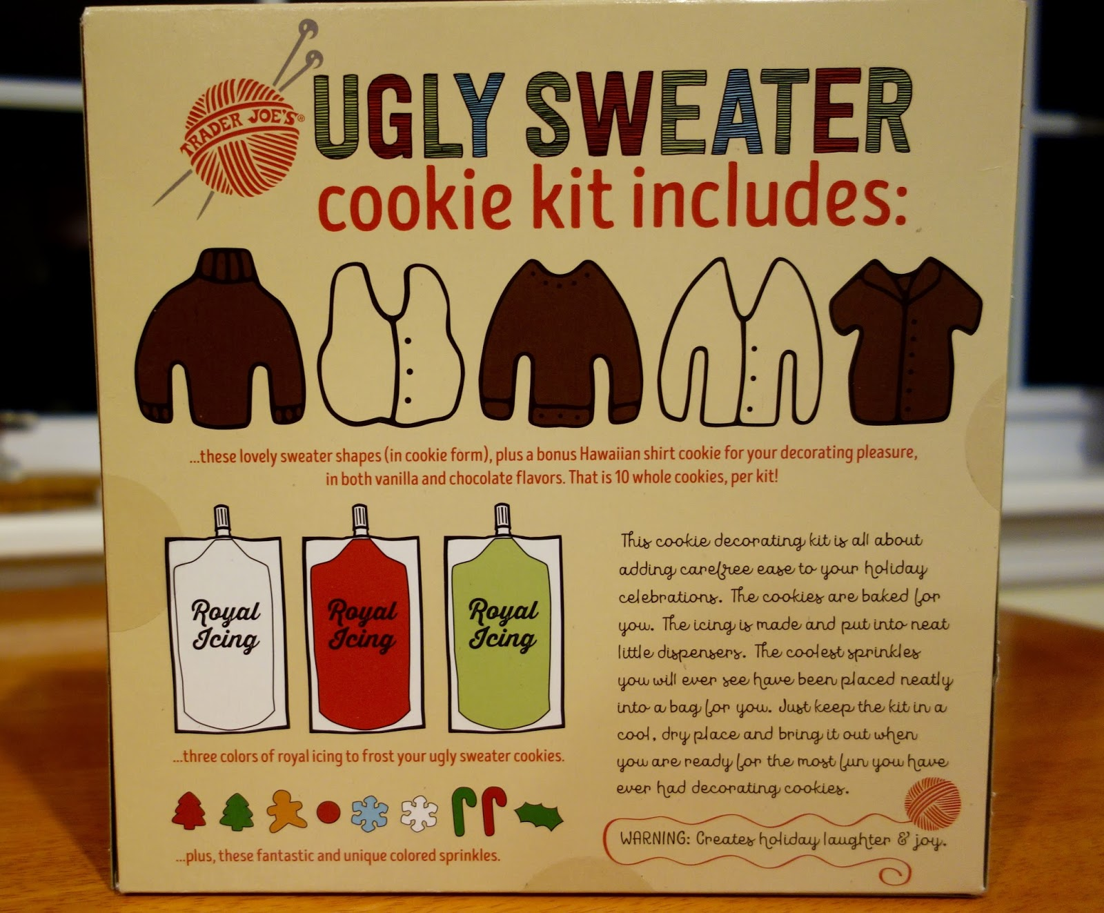 Trader Joes Ugly Sweater Cookie Kit