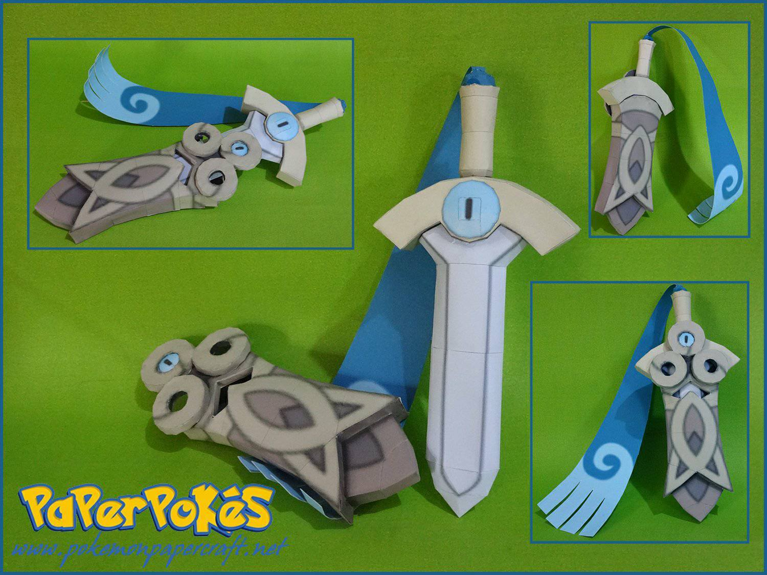 679 Honedge Pokémon Papercraft Name Type Steel Ghost Species Sword Height 0 8 M 2 07 Weight Kg 4 Lbs