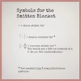 ByHaafner, crochet, vintage pattern, blanket, popcorn stitch, crochet chart