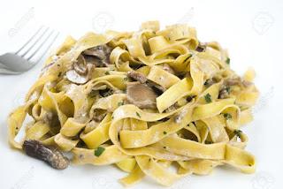 makaron z grzybami