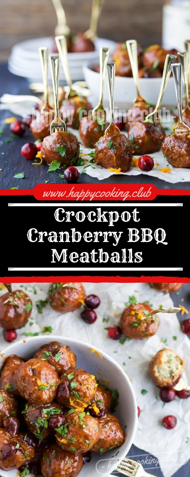 Crockpot Cranberry BBQ Meatballs