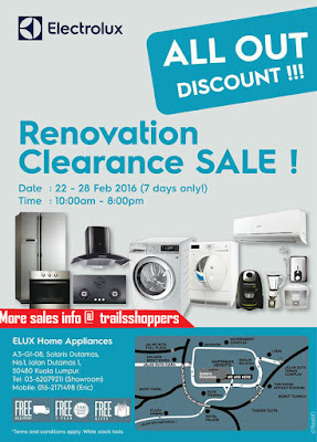 Electrolux Renovation Clearance Sale