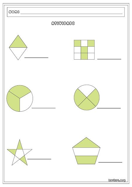 Atividade Fração com Formas Geométricas