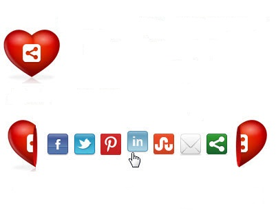 Nút Share hình trái tim cho blogger