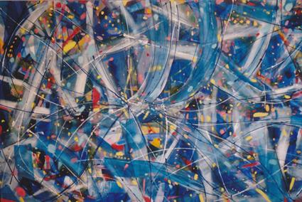 Pinturas modernas abstractas grandes