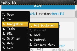 Cara Bookmark Halaman Di UC Browser