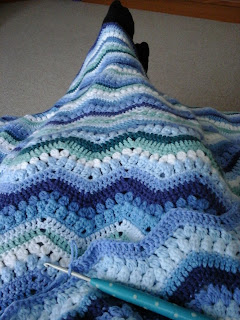 Tina's Allsorts, Rippling Clusters Blanket