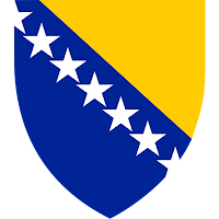Logo Gambar Lambang Simbol Negara Bosnia dan Herzegovina PNG JPG ukuran 200 px