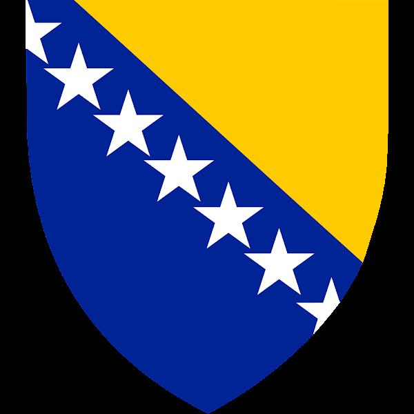 Logo Gambar Lambang Simbol Negara Bosnia dan Herzegovina PNG JPG ukuran 600 px
