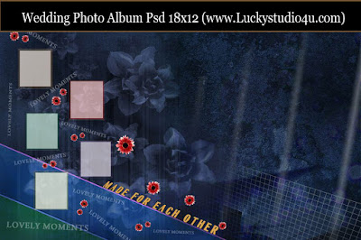 Wedding Photo Album 18x12 Psd