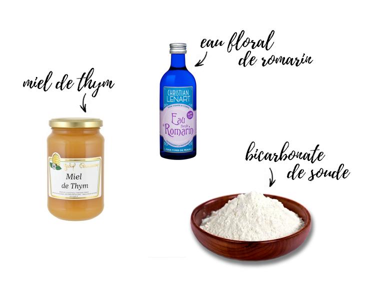 ingrédients masque bicarbonate