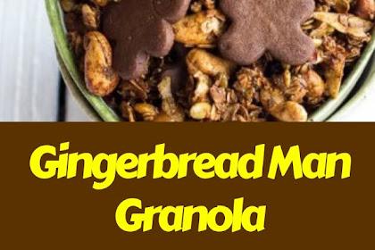 Gingerbread Man Granola #christmas #snack