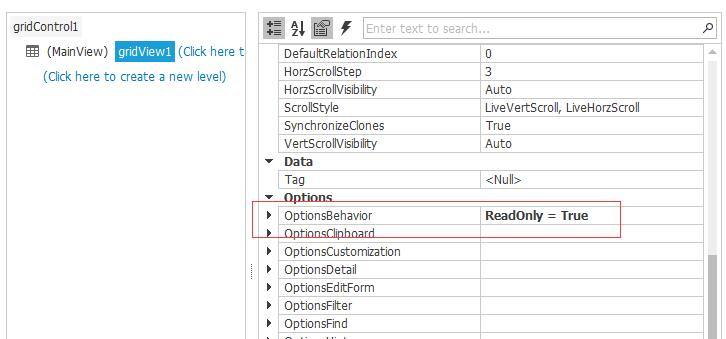 How to disable editing of the WinForms GridView or