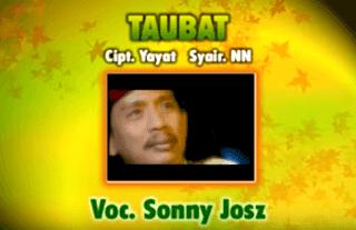 Lirik Lagu Taubat - Sonny Jos