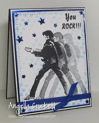 ODBD Custom Sparkling Stars Dies, Crackerbox Stamps (Elvis), Card Designer Angie Crockett