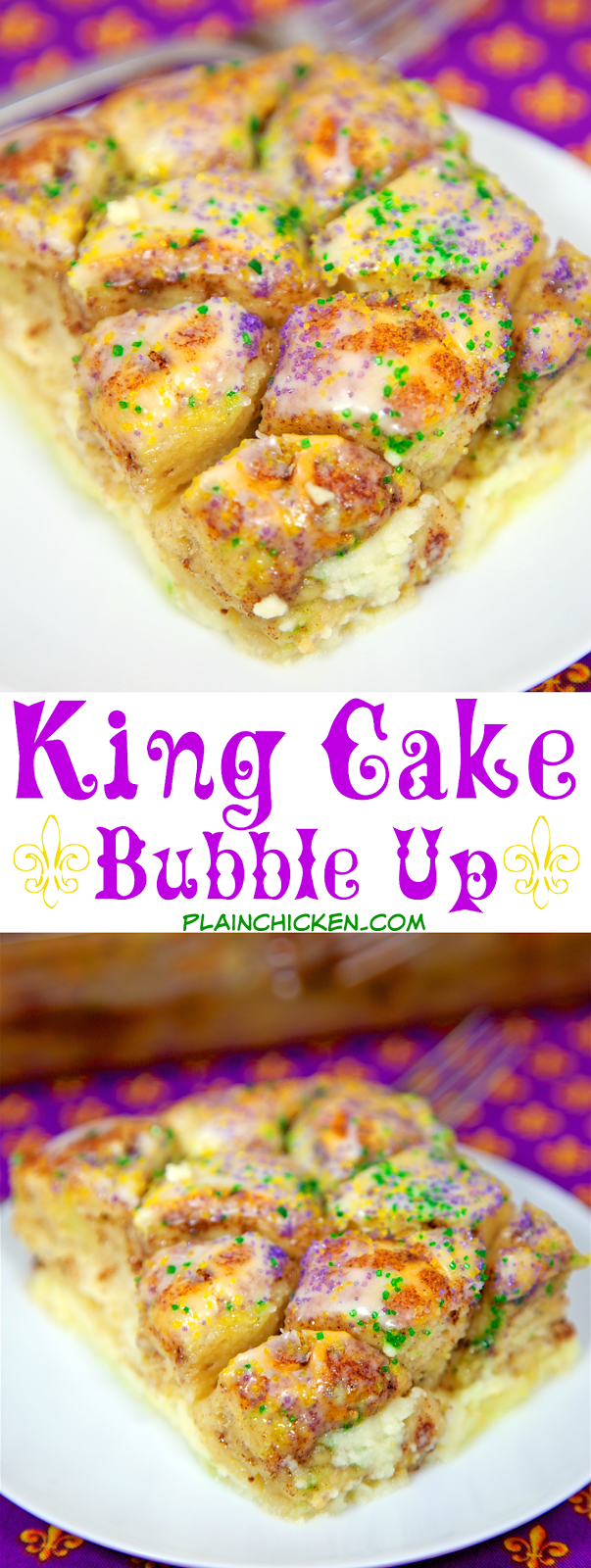 Bubble King Cake Recipe