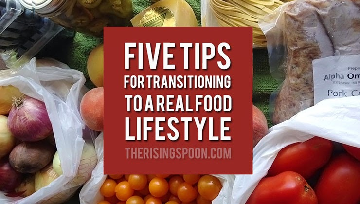 Thinking about switching to a real food lifestyle, but feeling overwhelmed? You're not alone! I'm sharing five simple tips that will help you make the transition to eating and shopping for real foods (plus cooking recipes at home) with less stress.