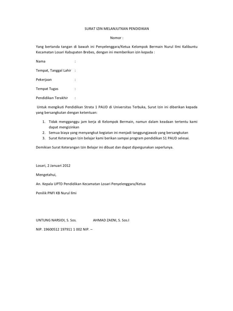 Contoh Surat Izin Tidak Masuk Kuliah Untuk Mahasiswa Yang Baik Dan