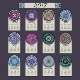 2017カレンダー無料テンプレート108