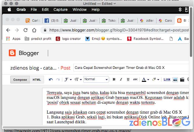 grab window - Cara Cepat Screenshot Dengan Timer Grab di Mac OS X