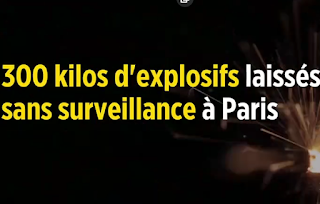 300 kilos d'explosifs laissés sans surveillance à Paris